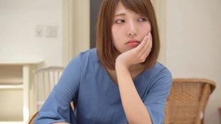 憂鬱で悩んでいる主婦